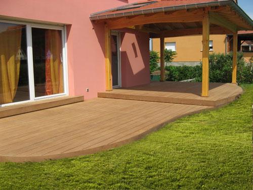 installation de terrasses extérieurs de plain pied en bois en Alsace